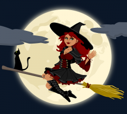 Lunar clipart witch