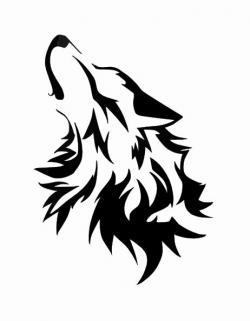 Lunar clipart wolf