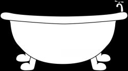 Bathtub clipart black and white