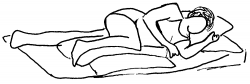 Lying Down clipart