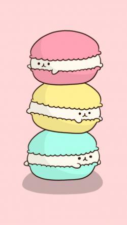 Macaron clipart background