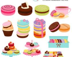 Macaron clipart french bakery
