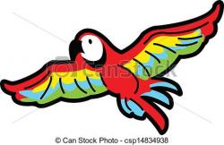 Macaw clipart flying