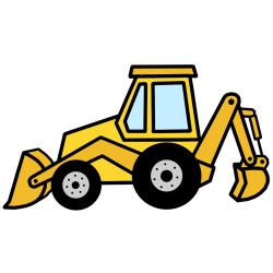 Excovator clipart backhoe loader