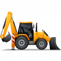 Machine clipart backhoe