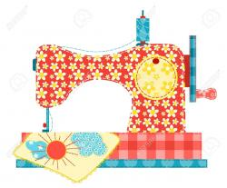 Patchwork clipart sewing