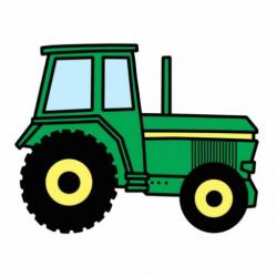 Drawn tractor animated