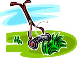 Machine clipart grass cutting