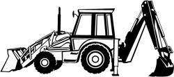 Excovator clipart case backhoe