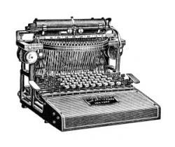 Typewriter clipart old school
