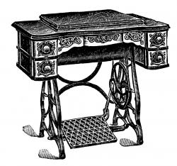 Victorian clipart antique sewing machine