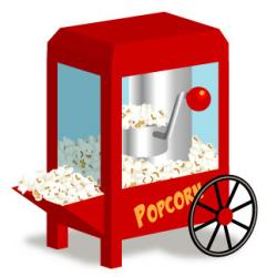 Movie clipart popcorn bag