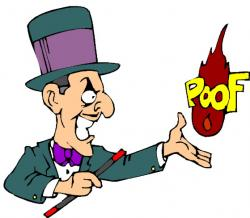 Magician clipart cartoon person