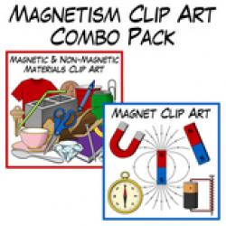 Magnetism clipart math and science