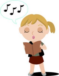 Singer clipart cute