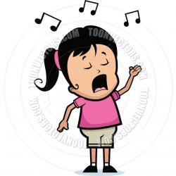Singer clipart female singer