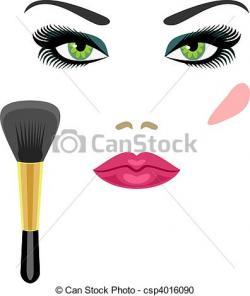 Makeup clipart sample
