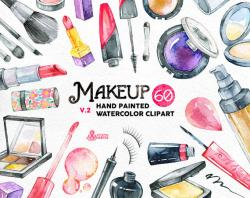 Makeup clipart watercolor