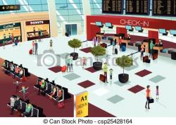 Mall clipart airport scene