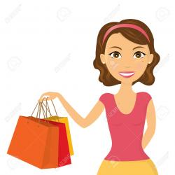 Mall clipart lady