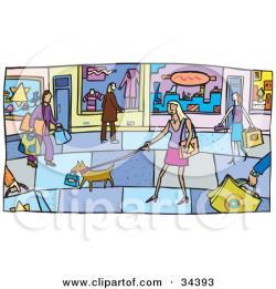 Mall clipart street scene