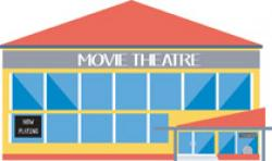 Market clipart cinema building