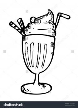 Milkshake clipart coke float