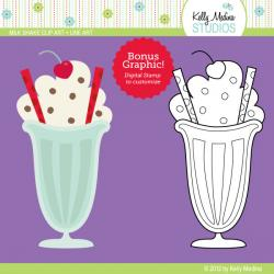 Malt clipart milkshake glass