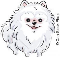 Pomeranian clipart black and white