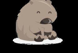 Wombat clipart cute