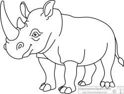 Drawn rhino clipart