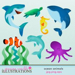 Dolphines clipart ocean animal