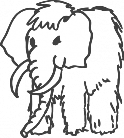 Mammoth clipart drawing