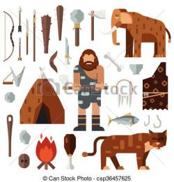 Mammoth clipart neanderthal