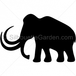 Mammoth clipart silhouette