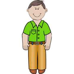 Men clipart man standing