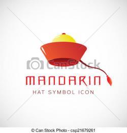 Mandarin clipart hat