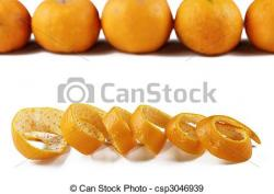 Mandarin clipart orange peel