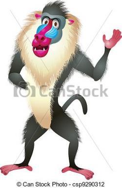 Baboon clipart cute