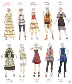 Manga clipart female outfit