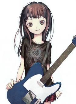 Manga clipart guitar playing