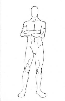 Manga clipart male pose