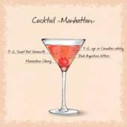 Manhattan clipart Manhattan Drink Clipart