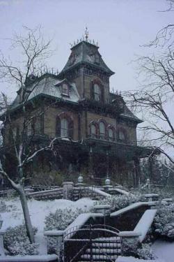 Drawn haunted house abandoned house