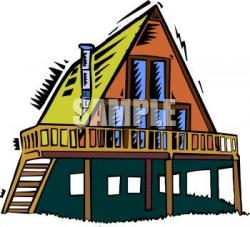 Deck clipart friends house