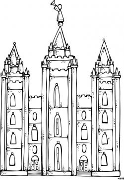 Temple clipart mormon temple