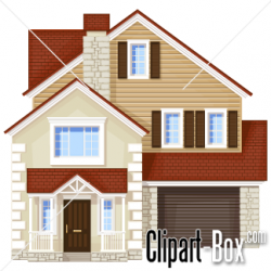 Mansion clipart simple house front