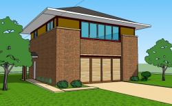 Villa clipart 2 story house