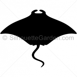 Stingray clipart silhouette