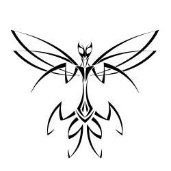 Mantis clipart tribal
